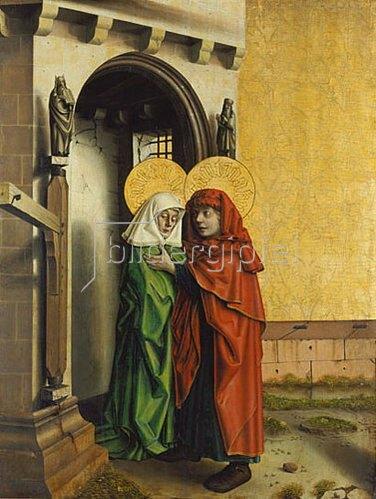 Konrad Witz: Begegnung von Joachim und Anna an der goldenen Pforte. Um 1440