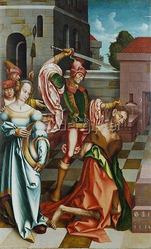 Hans Fries: Die Enthauptung Johannes des Täufers.