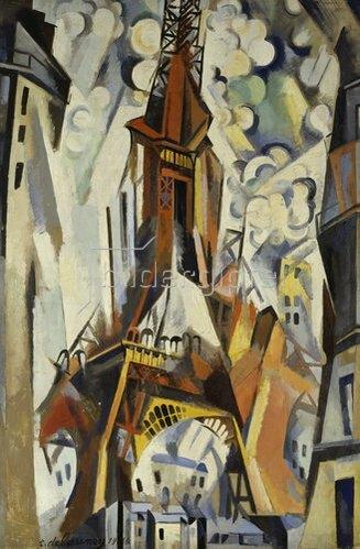 Robert Delaunay: Der Eiffelturm. 1910.