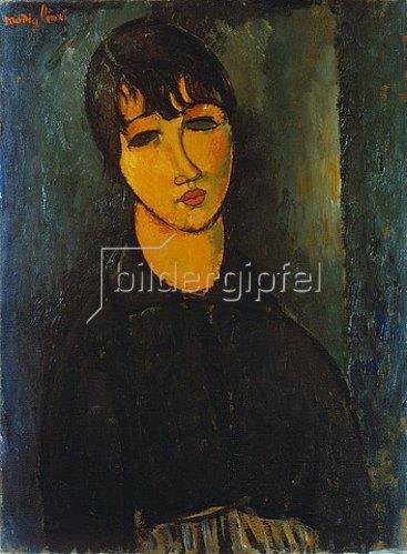 Amadeo Modigliani: Bildnis eines Dienstmädchens. Um 1916