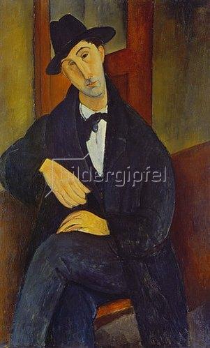 Amadeo Modigliani: Bildnis eines Mannes (M.Mario). 1919.