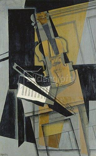 Juan Gris: Die Violine (Le violon). 1916
