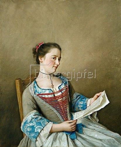 Jean Etienne Liotard: Bildnis der Mlle.Lavergne, der Nichte des Künstlers.