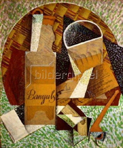 Juan Gris: Bouteille de Banyuls. 1914.