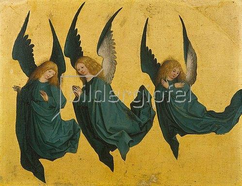 Meister des Hausbuches: Schwebende Engel.