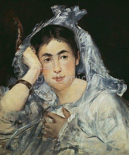 Edouard Manet: Marguerite de Conflans mit Kapuze. 1873