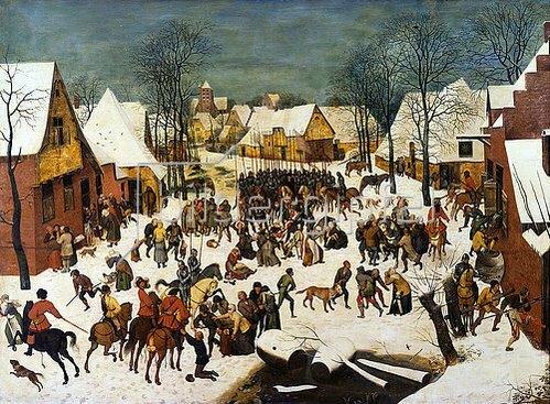 Pieter Brueghel d.Ä.: Der bethlehemitische Kindermord.