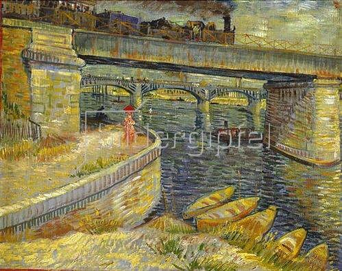 Vincent van Gogh: Seinebrücke bei Asnières. 1887