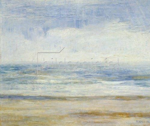 James Ensor: Meerlandschaft von Ostende. Um 1915-20