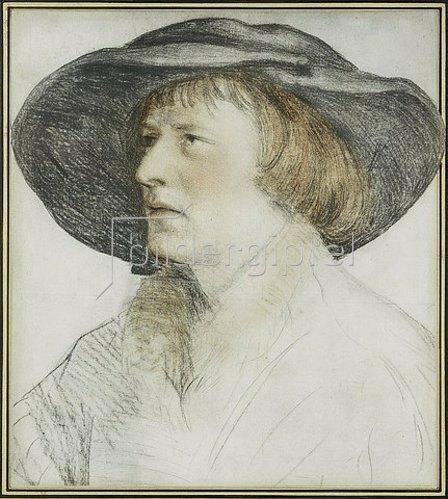 Hans Holbein d.J.: Der Mann mit dem Schlapphut. Um 1528.