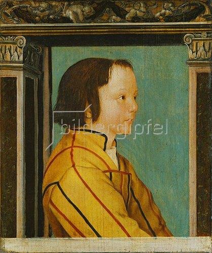 Ambrosius Holbein: Bildnis eines Knaben mit braunem Haar.