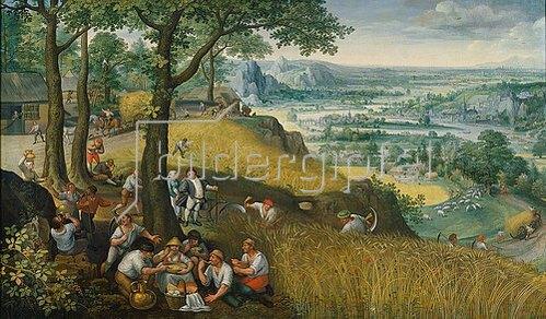 Lucas I. van Valckenborch: Sommerlandschaft (Juli oder August). 1585