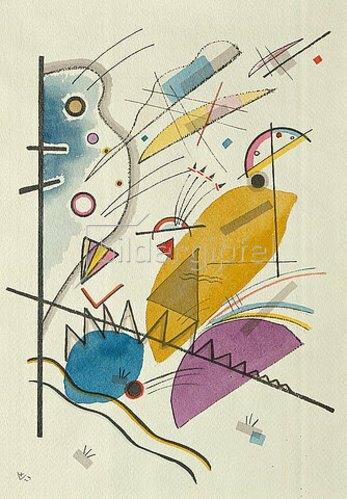 Wassily Kandinsky: Durchgehender Strich (auch: Komposition mit senkrechter Stange). 1923