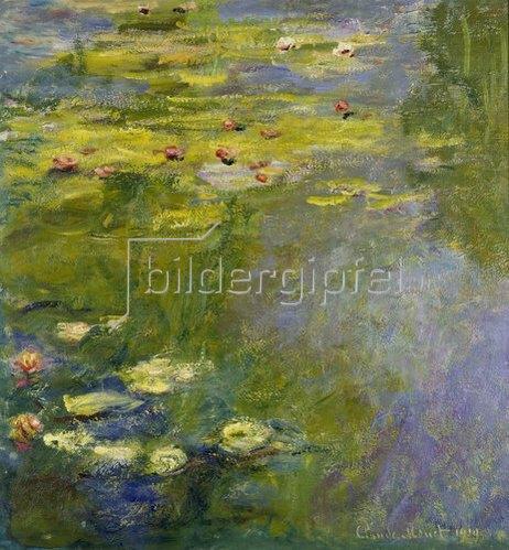 Claude Monet: Le bassin aux Nymphéas. 1919.