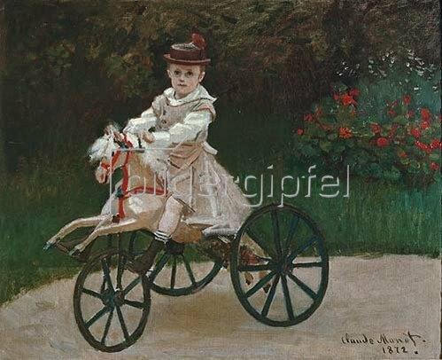 Claude Monet: Jean auf einem Holzpferd. 1872.