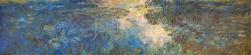 Claude Monet: Le bassin aux nymphéas, Triptychon. 1917/1919.