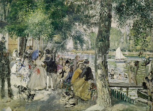 Auguste Renoir: An der Seine. 1869.