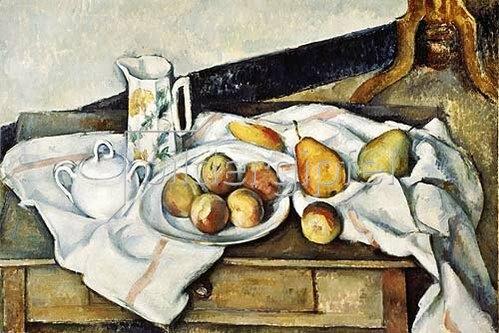 Paul Cézanne: Stilleben mit Pfirsichen und Birnen. 1888/1890.