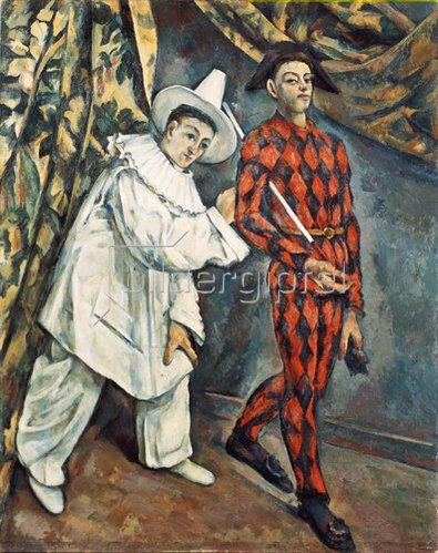 Paul Cézanne: Pierrot und Harlekin (Mardi Gras). 1888.