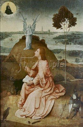 Hieronymus Bosch: Johannes auf Patmos.