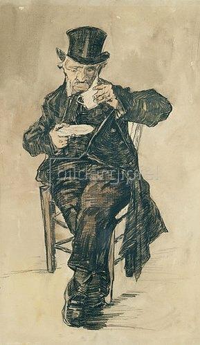 Vincent van Gogh: Mann mit Kaffeetasse. 1882