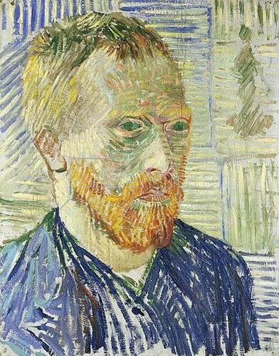Vincent van Gogh: Selbstbildnis vor japanischem Druck. 1887.