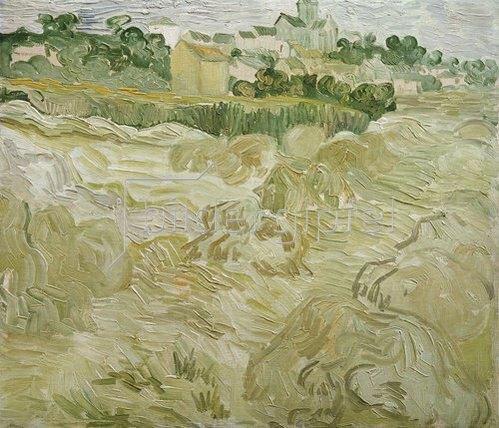 Vincent van Gogh: Ansicht von Auvers. 1890.