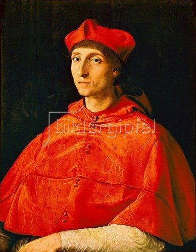 Raffael (Raffaello Sanzio): Bildnis eines Kardinals.
