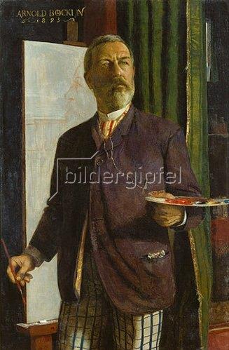 Arnold Böcklin: Selbstbildnis im Atelier. 1893