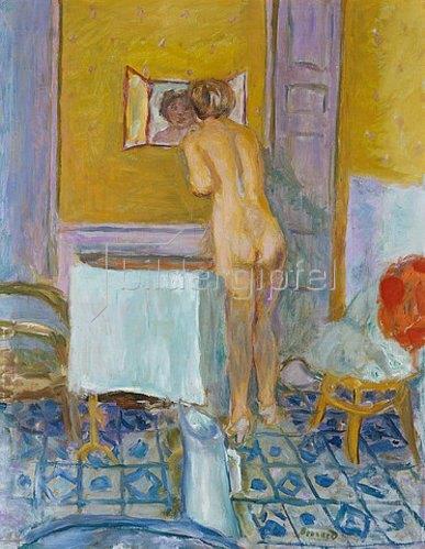 Pierre Bonnard: Nu devant la cheminé. 1917.