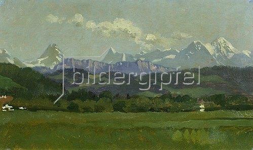Frank Buchser: Kleine Alpenkette.