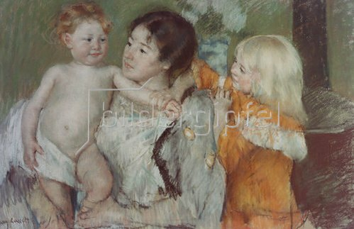 Mary Cassatt: Nach dem Bade.