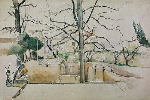Paul Cézanne: Winter in Jas de Bouffan.