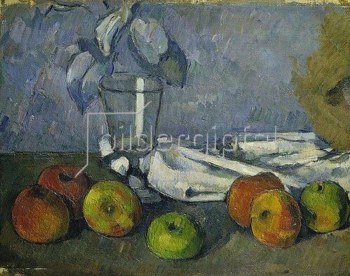 Paul Cézanne: Glas und Äpfel (Verrre et pommes). 1879-82