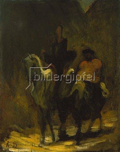 Honoré Daumier: Don Quichotte und Sancho Pansa.
