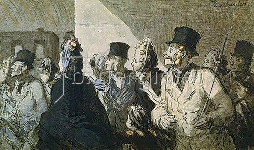 Honoré Daumier: Die Abfahrt des Zuges.