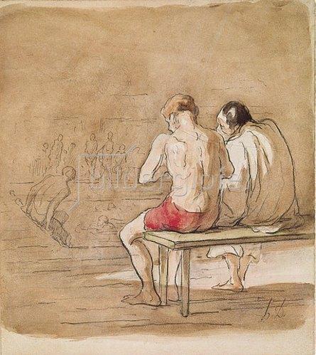 Honoré Daumier: Die Badenden.