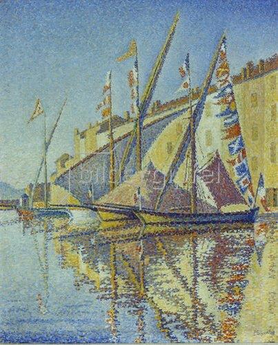 Paul Signac: Segelboote im Hafen von St.Tropez. 1893