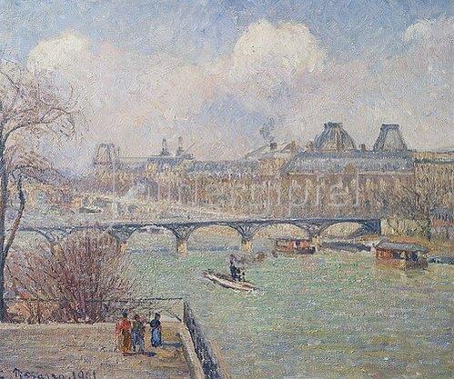 Camille Pissarro: Seine mit Pont-Neuf. 1901