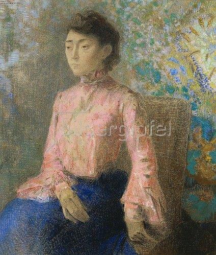 Odilon Redon: Bildnis der Mlle. Chaire.