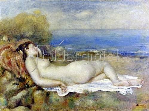 Auguste Renoir: Ruhende Badende am Ufer des Meeres.