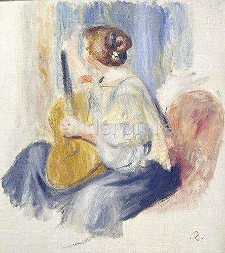 Auguste Renoir: Frau mit Gitarre.