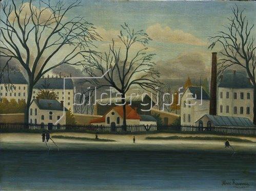 Henri Rousseau: Vorort am Ufer der Marne.