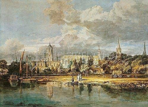 Joseph Mallord William Turner: Christ Church, von den Wiesen gesehen.