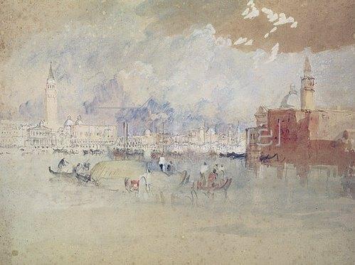 Joseph Mallord William Turner: Venedig, von der Lagune aus gesehen.