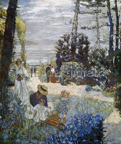 Edouard Vuillard: In einem Garten in der Normandie. 1898.