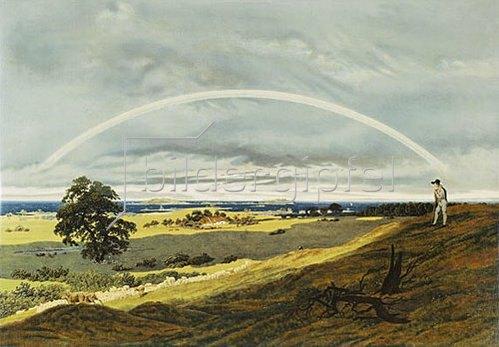 Caspar David Friedrich: Landschaft mit Regenbogen.