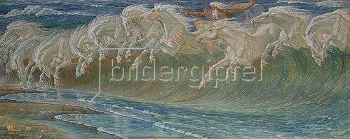 Walter Crane: Die Rosse des Neptun. 1892