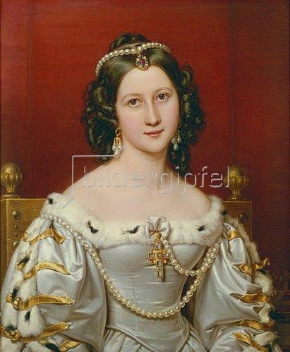 Joseph Karl Stieler: Charlotte von Owen, geb.von Hagen. Schönheitengalerie König Ludwigs I.