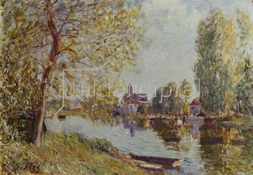 Alfred Sisley: Frühling in Moret-sur-Loing.